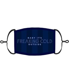 "Adjustable Christmas Face Mask: ""Baby It's Freaking Cold Outside"" (1pk.)"