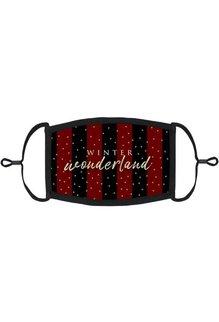 "Adjustable Christmas Face Mask: ""Winter Wonderland"" Red (1pk.)"