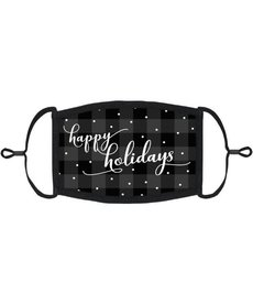 "Adjustable Fabric Face Mask: ""Happy Holidays"" (1pk.)"