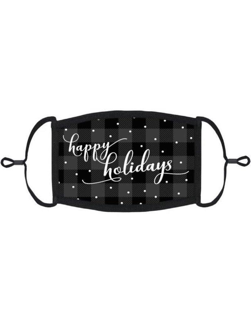 "Adjustable Fabric Face Mask: ""Happy Holidays"" (1pk.)"