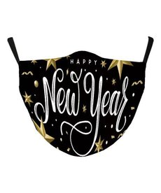 Fabric Face Mask - Happy New Year!