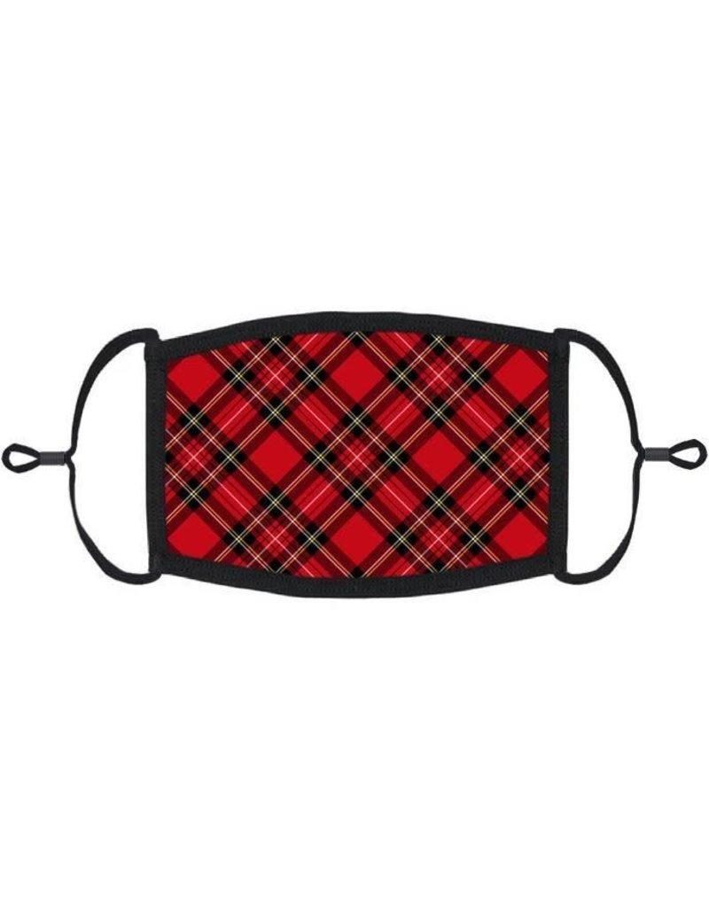 Adjustable Face Mask: Red Plaid (1pk.)