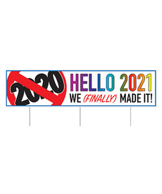 "New Year's Yard Sign: ""Hello 2021"""