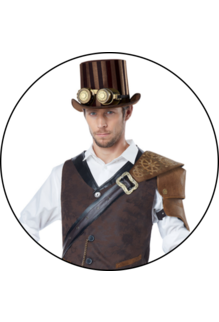 California Costumes Men's Adult Steampunk Adventurer Costume