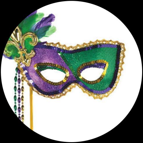 Masquerade Masks for Mardi Gras