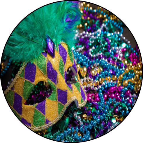 All Mardi Gras Costumes, Decorations, Wearables, Masks & Beads