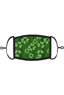 Adjustable Fabric Face Mask: Green Clover (1pk.)