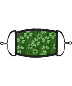 Adjustable Fabric Face Mask: Green Clover