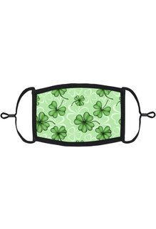 Adjustable Fabric Face Mask: Kelly Green Clover (1pk.)