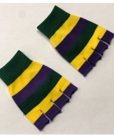 Mardi Gras Fingerless Gloves