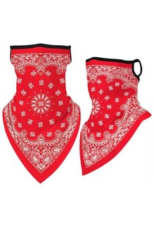 Full Neck Gaiter: Red with Classic Paisley (1pk.)