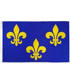 Fleur De Lis Flag (3x5ft) - Blue 3