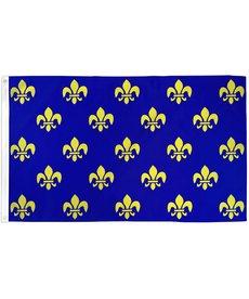 Fleur De Lis Flag (3x5ft) - Blue Multi