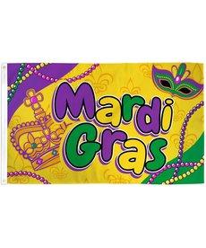 Mardi Gras Beads Flag (3x5')