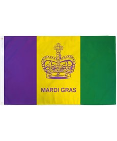 Mardi Gras Crown Flag (3x5')