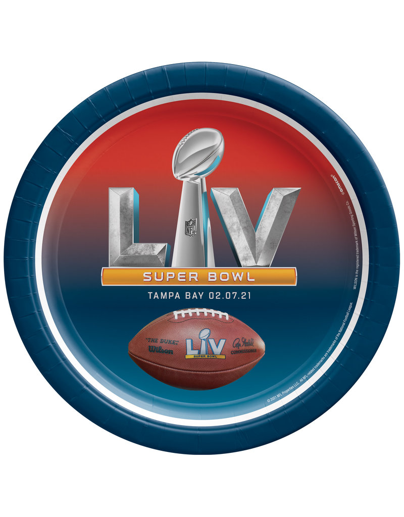 "7"" Paper Plates: Super Bowl LV (8pk.)"