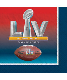 Beverage Napkins: Super Bowl LV (16pk.)