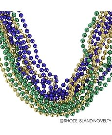 Mardi Gras Case Beads (432 Count): Purple/Green/Gold