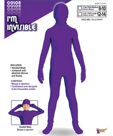 Kid's I'm Invisible: Purple Bodysuit