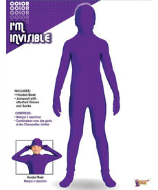 Kid's I'm Invisible: Neon Purple Bodysuit