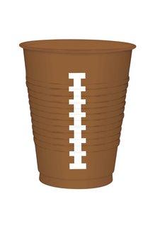 16 oz. Football Plastic Cups