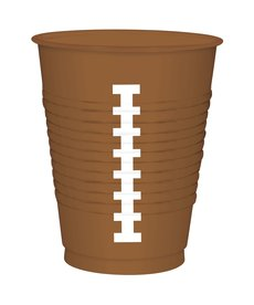 16 oz. Football Plastic Cups