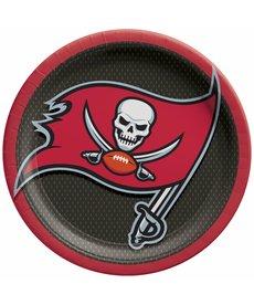 NFL Round Plates: Tampa Bay Buccaneers