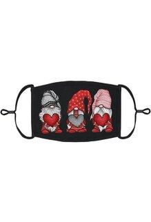 Adjustable Fabric Face Mask: Valentine Gnomes (1 pk.)