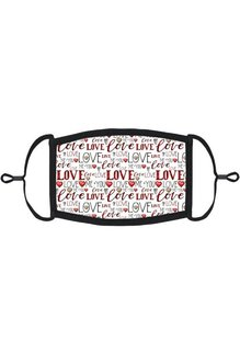 Adjustable Fabric Face Mask: Valentine Love White (1 pk.)