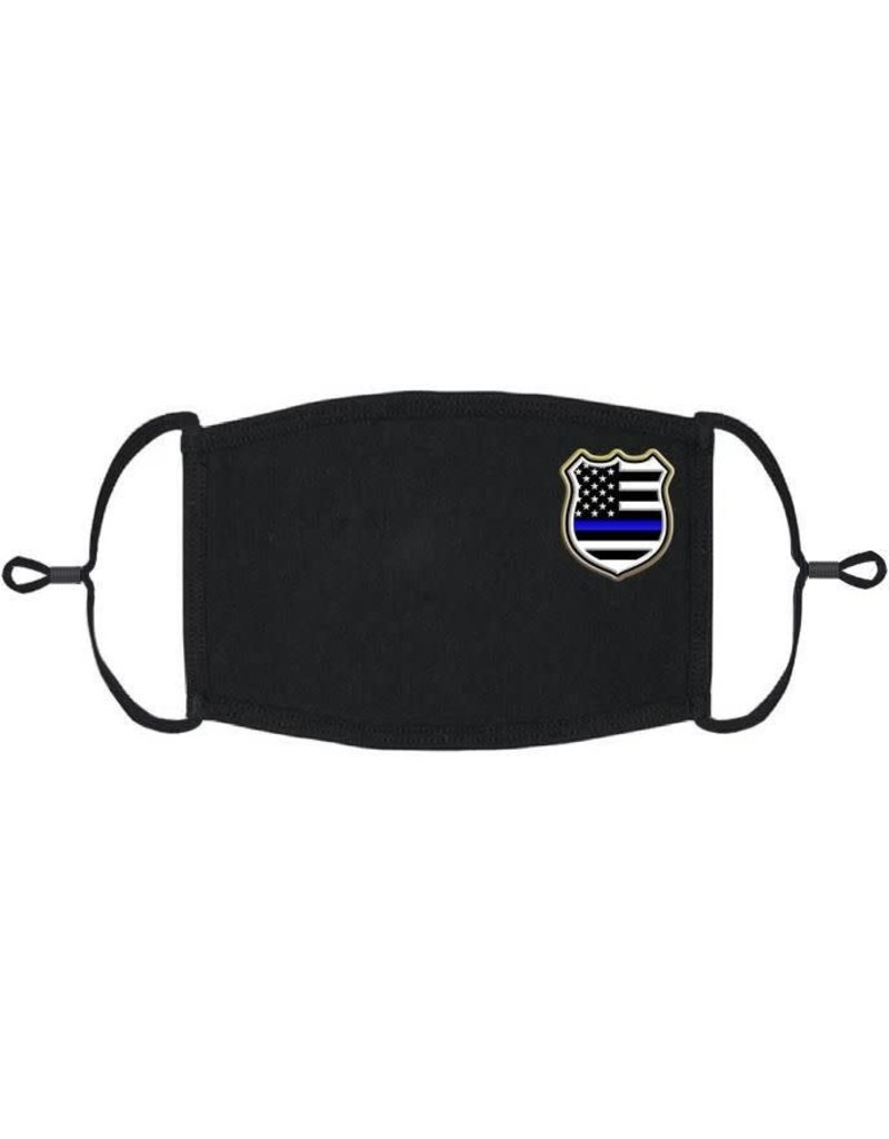 Adjustable Fabric Face Mask: Police (1 pk.)