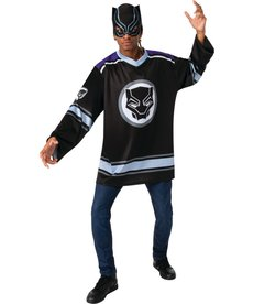 Rubies Costumes Men's Black Panther Hockey Jersey