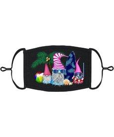 Adjustable Fabric Face Mask: Beach Gnomes (1pk.)