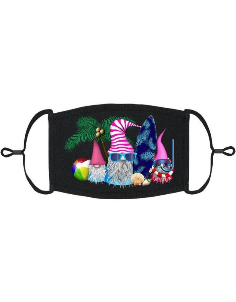 Adjustable Fabric Face Mask: Beach Gnomes (1pk.)