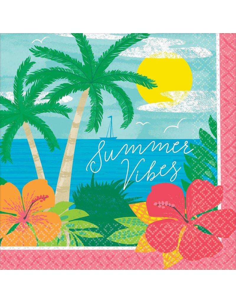Beverage Napkins: Summer Vibes (125 Pack)