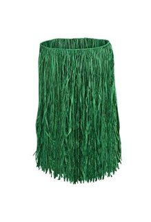 Adult Grass Raffia Hula Skirt: Green