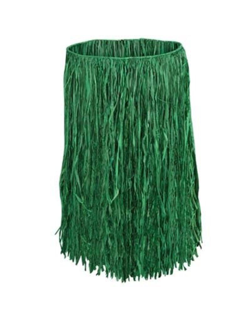 Adult Grass Raffia Hula Skirt: Green