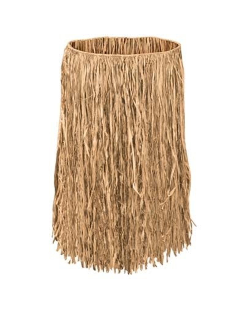 Adult Grass Raffia Hula Skirt: Natural Tan