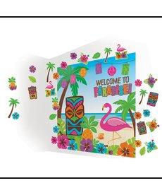 Amscan Luau Tiki Scene Setters® Mega Value Wall Decorating Kit