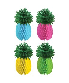 Pineapple Luau Honeycomb Centerpieces (4pk.)