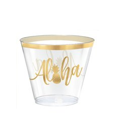 9 oz. Plastic Tumbler Cups: Aloha (30ct.)