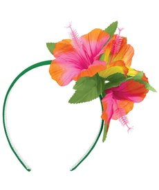 Amscan Hibiscus Headband with Fabric Flowers