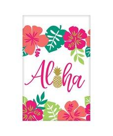 """Luau Paper Tablecover: Aloha (54""""x102"""")"""