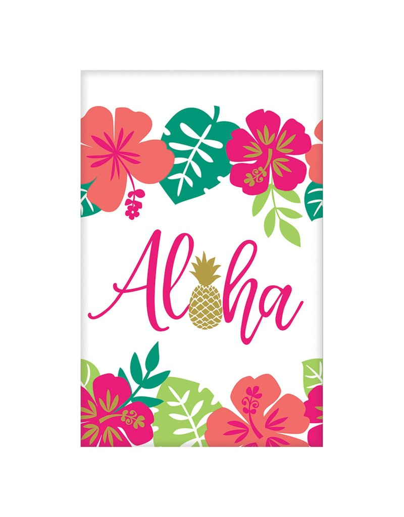 "Luau Paper Table Cover: Aloha (54""x102"")"