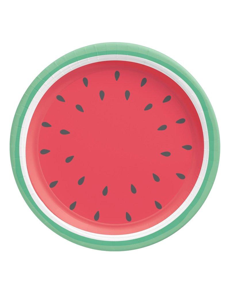 "10"" Round Summer Plates: Tutti Frutti (8ct.)"