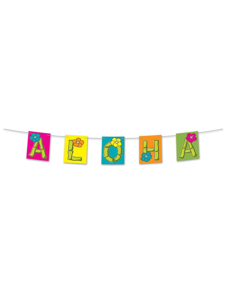 "Hawaiian Streamer Banner: ""Aloha"" (8.5""x5')"