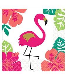 "Beverage Napkins: Aloha ""Flamingo"" (12ct.)"