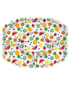 Summer Fruit Plastic Sectional Platter