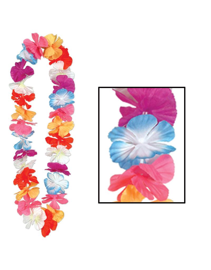 """36"""" Silk 'N Petals Parti-Color Lei"""