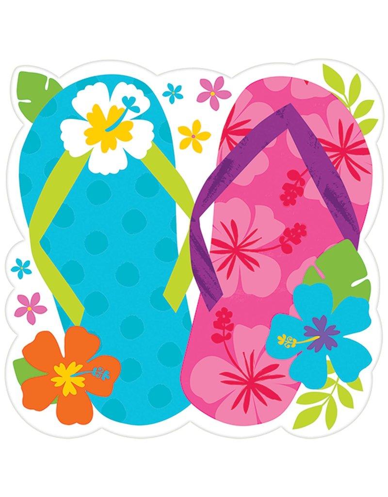 "15"" Summer Luau Cutout: Flip Flop"