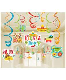 Foil Swirl Decorations - Fiesta Mega Pack